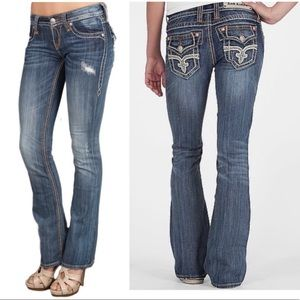 Rock Revival Tricia Boot blue womens jeans size 28